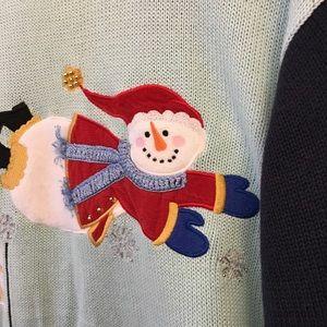 Quacker Factory Sweaters - Quacker Factory Snowman Winter Sweater